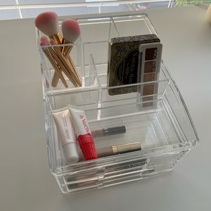 Acrylic makeup/desk storage organizer